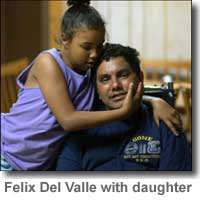 Felix Del Valle with Daughter